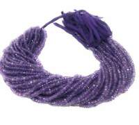 Natural Amethyst Faceted Gemstone Beads, Bulk Wholesale Jewelry Making Supplies,