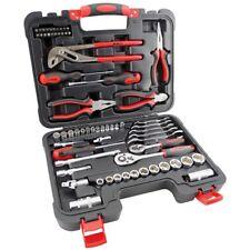 "Tool Kit 65pc 1/4 & 3/8"" Socket Set Screwdrivers Spanners Ratchets Plier Cutter"