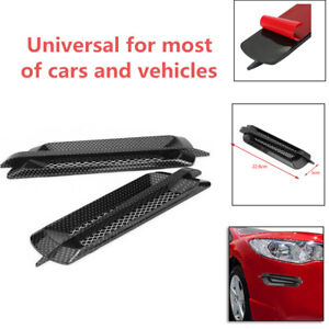 2X Auto Truck Side Air Flow Vent Fender Cover Intake Grille Sticker Carbon Fiber