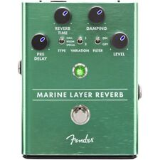 Genuine FENDER Marine Layer Reverb Pedal , Solid Aluminum Stomp Box #0234532000