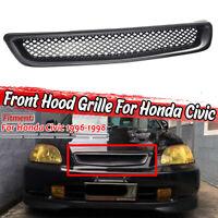 Front Bumper Mesh Grille Grill Carbon Fiber Look FOR HONDA CIVIC EK4 EK9 96-98