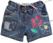NEXT Jeans Shorts BLUMEN für Mädchen 12-18 Monate 86cm E-S