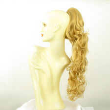 Postizo coleta cola mujer corrugado 65 cm rubio claro dorado ref 6 en lg26