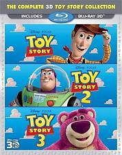Toy Story 3D Trilogy (Blu-ray Disc, 2011, 3-Disc Set, 3D)