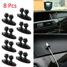 8Pcs Cable Drop Clip Adhesive Car Charger Wire Line Clasp Desk Tidy Organiser