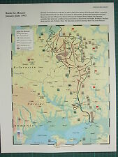 WW2 WWII MAP ~ BATTLE FOR MOSCOW JAN-JUN 1942 GERMAN ADVANCES SOVIET DEFENSIVE