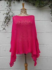SHORT PONCHO SHRUG CAPE WRAP BNWT ONESIZE LAGENLOOK ETHNIC BOHO HIPPY ARTY