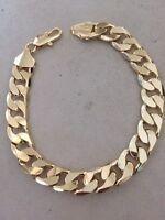 """50% Sale 9"""" Light 18K Gold Plated Big Men Bracelet Lady's Anklet Christmas Gift"""