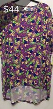 Woman's LuLaRoe DISNEY Irma Tunic Shirt Size Large Muppets Kermit Piggy NEW