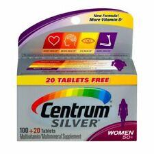 Centrum Silver Women 50+ Multivitamin Tablets - 120 CT - Non GMO  EXP 02/20