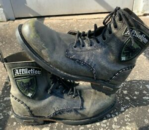 Affliction Above Ankle Combat Boots Leather Size 10.5