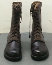 WW II Paratrooper Leather Jump Boots 7 EE Named Soldier 2nd Army