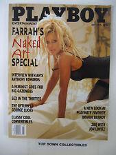 Playboy Magazine   July  1997     Farrah Fawcett Naked Art Special