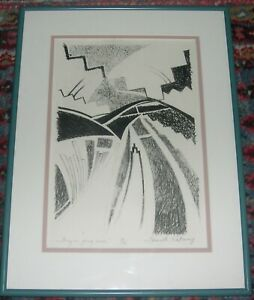 They Are Going Home Lithograph, Jeannette Katoney Listed Navajo Artist