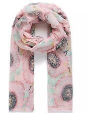 Ladies Scarf Pashmina Floral Print Pink Green SS17 New Designs Shawls