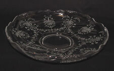 """PERFECT Vintage Heisey """"ORCHID"""" Etched Large LOW GARDENIA BOWL!!"""