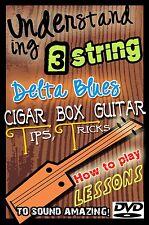 Cigar Box Guitar Lessons -  DVD Vintage 3 string Bottleneck slide & Resonator