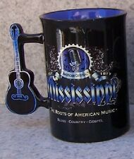 Coffee Mug Entertainment Mississippi Guitar Handle NEW 16 ounce cup w/ gift box