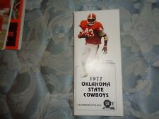 1977 OKLAHOMA STATE COWBOYS FOOTBALL MEDIA GUIDE Yearbook TERRY MILLER Book AD