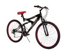 "Deluxe Black Mountain Bike 26"" Alloy Frame 21-Speed Men Bicycle Dual Suspension"