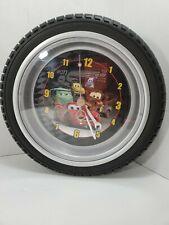 "Disney Pixar Cars 2 Lightning McQueen Tire Clock kids room wall clock decor 10"""