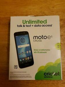 CRICKET MOTO E5 CRUISE 16Gb 4G LTE Android Smartphone BRAND NEW PREPAID