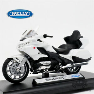 Welly 1:18 2020 Honda Gold Wing Travel Edition White Diecast Model Motor