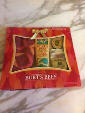 Burt's Bees Mani Pedi Gift Set 4pc Hand Cream, Balm, Foot Lotion & Cosmetic Case