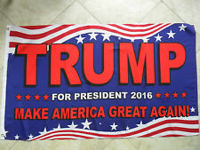 3'X5' TRUMP FOR PRESIDENT 2016 MAKE AMERICA GREAT AGAIN FLAG SHIPS FROM FLORIDA
