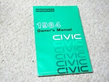 1984 HONDA CIVIC OWNER'S MANUAL (USA) !!!