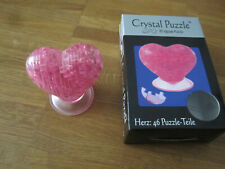 3D Crystal Puzzle - Herz 46 Teile