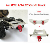 DIY Modified Metal Front/Rear Bumper Set for WPL 1/16 RC Car &Truck Accessories