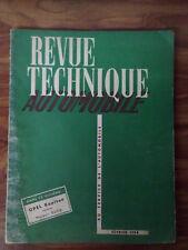 RTA OPEL KAPITAN revue technique automobile d'époque de février 1954