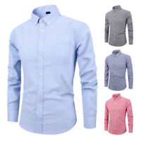 New Mens Shirt Striped Cotton Casual Formal Business Dress Shirts 6511