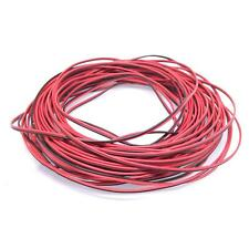 24awg UL-2468 PVC Flat Ribbon Wire Stranded Cables Red & Black 50meter
