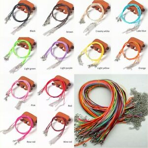 Great Quality Leather Cord with Clasp Necklace String for Pendants- Many Colors