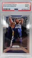 2019-20 Zion Williamson Panini Prizm #248 Base Prizm Rookie RC PSA 9 MINT