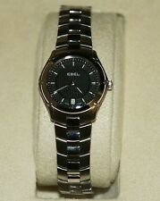 Ebel Classic Black Dial Stainless Steel Swiss Quartz Ladies Watch 1216014