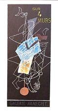 "BRAQUE mounted Mourlot lithograph, Affiches Originales, 1959, 14 x 11"" AO06"