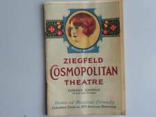 1925 ZIEGFELD COSMOPOLITAN THEATRE Program BILLIE BURKE Cover Broadway NYC