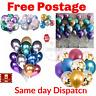 "10 / 20 CHROME BALLOONS METALLIC LATEX PEARL 12"" Helium Baloon Birthday Party UK"