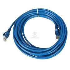 """295.2""""/25FT CAT5 CAT5e RJ45 Ethernet Lan Network Blue Patch Cable Durable US CA"""
