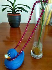 Beautiful Natural rose red jade gemstone beads necklace 49cm-Handmade UK sel