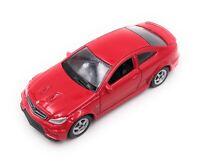 Mercedes Benz C63 Rot Modellauto Auto Maßstab 1:60