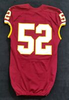 #52 No Name of Redskins NFL Locker Room Game Issued Player Worn Jersey