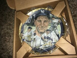 """Lou Gehrig New York Yankees 6"""" Hamilton Collection Sports Impressions Plate"""