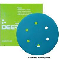 "150mm 6"" Wet or Dry Sanding Discs P40-P3000 Sandpaper for Velcro Pads Bosch Type"