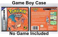 Pokemon Fire Red Version - Game Boy Advance GBA Case - *NO GAME*