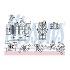 Fits BMW 5 Series E34 540i V8 Genuine OE Quality Nissens A/C Air Con Compressor
