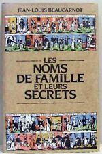 LES NOMS DE FAMILLE ET LEURS SECRETS - Beaucarnot - Généalogie Histoire France